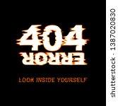 404 error t shirt design.    Shutterstock .eps vector #1387020830