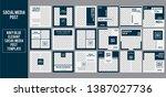 navy blue social media post... | Shutterstock .eps vector #1387027736