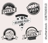 collection of vintage labels.... | Shutterstock .eps vector #1387030313