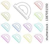 conveyor rule multi color icon. ...