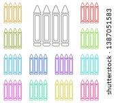 crayon multi color icon. simple ...