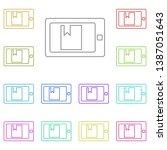 e reader multi color icon.... | Shutterstock .eps vector #1387051643