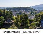 the ginkakuji temple  the... | Shutterstock . vector #1387071290
