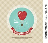 wedding invitation card with... | Shutterstock .eps vector #138708578