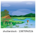 villager at countryside find... | Shutterstock .eps vector #1387096526
