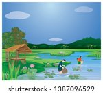 villager at countryside find... | Shutterstock .eps vector #1387096529