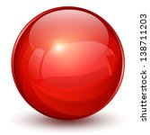 Glossy Sphere 3d Red