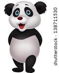 cute panda cartoon | Shutterstock .eps vector #138711530