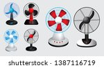 set of electric fan. easy to... | Shutterstock .eps vector #1387116719