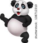 panda cartoon doing martial art | Shutterstock .eps vector #138712310