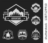 adventure summer outdoor... | Shutterstock .eps vector #1387129910