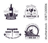 wine club house logo templates... | Shutterstock .eps vector #1387130006