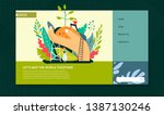 planting trees ecology and... | Shutterstock .eps vector #1387130246
