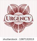 red rosette  money style emblem ... | Shutterstock .eps vector #1387132013