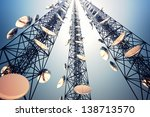 three tall telecommunication... | Shutterstock . vector #138713570