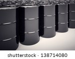 a big group of black new oil... | Shutterstock . vector #138714080