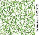 bamboo leaves seamless pattern. ... | Shutterstock .eps vector #138714983