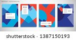 set of a4 cover  abstract... | Shutterstock .eps vector #1387150193