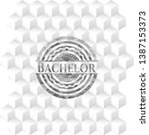 bachelor grey emblem with cube... | Shutterstock .eps vector #1387153373