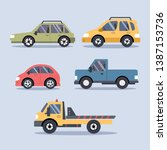 set of urban city cars and... | Shutterstock .eps vector #1387153736