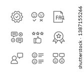 survey icon set including... | Shutterstock .eps vector #1387155266