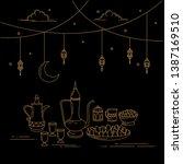 eid al fitr celebrations design ... | Shutterstock .eps vector #1387169510