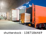 distribution warehouse and... | Shutterstock . vector #1387186469