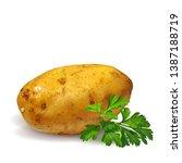 potato whit green parsley low... | Shutterstock .eps vector #1387188719
