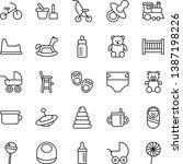 thin line vector icon set  ...   Shutterstock .eps vector #1387198226