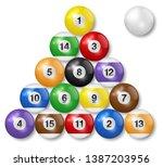 billiard  pool balls collection.... | Shutterstock .eps vector #1387203956