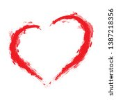 set of hearts . grunge stamps... | Shutterstock .eps vector #1387218356