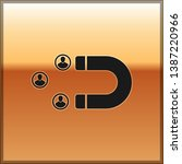 black customer attracting icon... | Shutterstock .eps vector #1387220966