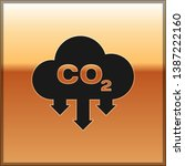 black co2 emissions in cloud... | Shutterstock .eps vector #1387222160