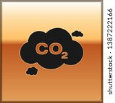 black co2 emissions in cloud... | Shutterstock .eps vector #1387222166