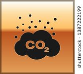 black co2 emissions in cloud... | Shutterstock .eps vector #1387222199