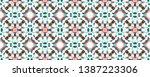 batik silk illustration.... | Shutterstock . vector #1387223306