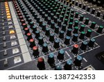buttons and knobs with slider... | Shutterstock . vector #1387242353