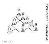 hierarchy icon  organization... | Shutterstock .eps vector #1387245653