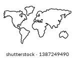 worldwide map outline...   Shutterstock .eps vector #1387249490