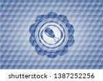 chicken leg icon inside blue...   Shutterstock .eps vector #1387252256