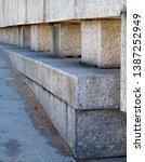 granite geometry in the urban... | Shutterstock . vector #1387252949