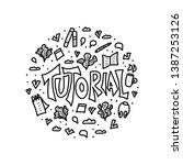 tutorial round badge. ... | Shutterstock .eps vector #1387253126