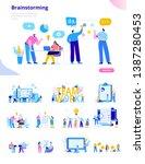 business people vector set.... | Shutterstock .eps vector #1387280453