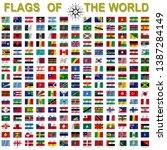 set of flags of world sovereign ... | Shutterstock .eps vector #1387284149