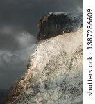 wind blowing a ridge at... | Shutterstock . vector #1387286609