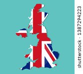 united kingdom map with united... | Shutterstock .eps vector #1387294223