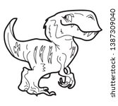 cartoon doodle illustration of... | Shutterstock .eps vector #1387309040