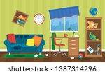 mess in the children's room... | Shutterstock .eps vector #1387314296