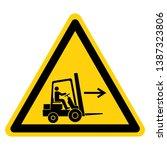 forklift point right symbol... | Shutterstock .eps vector #1387323806
