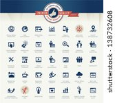 Set of business icons for internet marketing and services | Shutterstock vector #138732608